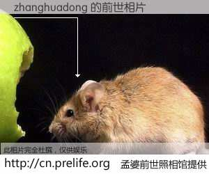 #孟婆前世照相馆# 【zhanghuadong 的前世相片】我们都曾从奈何桥上走过,喝下三碗忘川之水烹煮的孟婆汤,忘却了前尘旧事。孟婆前世照相馆,保存着你前世的数码相片。zhanghuadong 的前世相片,有图有真相: